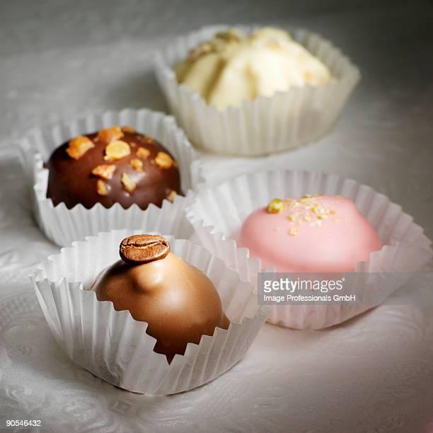 Variety of chocolates, close up