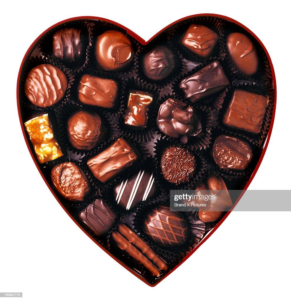 Variety of chocolates : Stock Photo