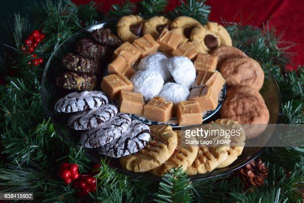 Variety of christmas sweets