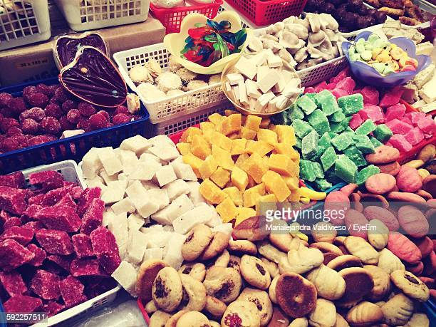 Variety Of Desserts For Sale In Market
