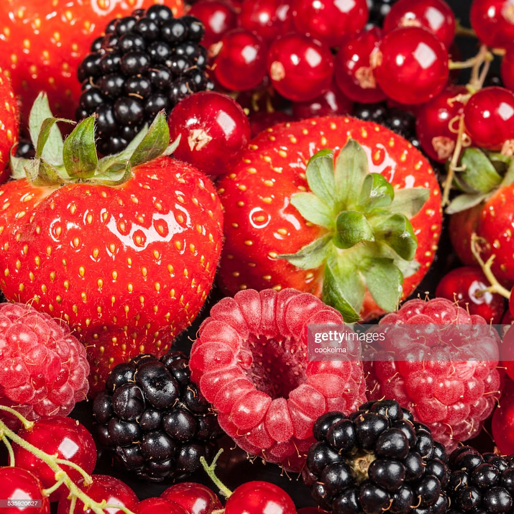 Variety of different berries : Stock Photo