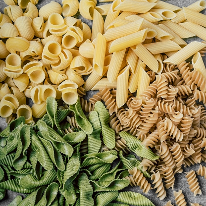 Variety of dry pasta - gettyimageskorea