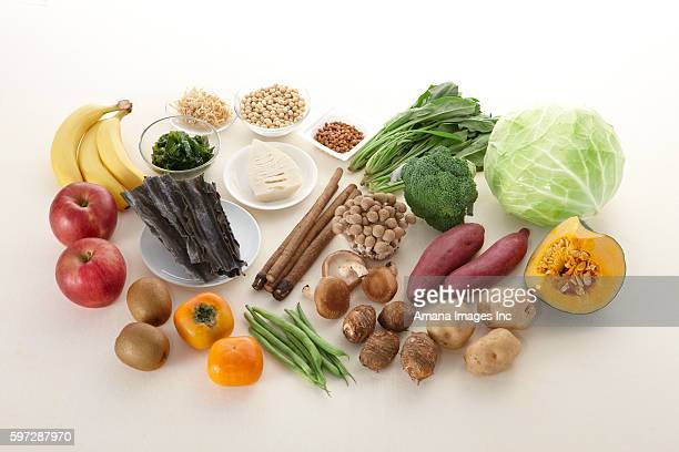 A variety of food(Nutrient, Dietary fiber)