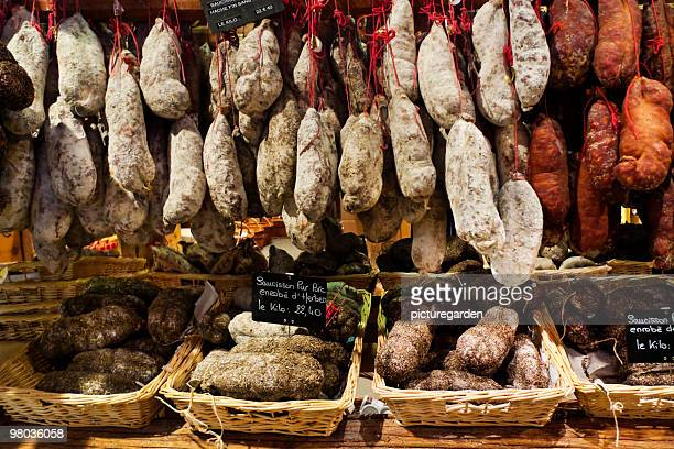 Variety of French Salami in Baskets
