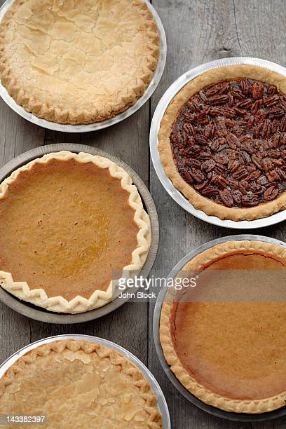 variety of fresh, homemade pies - sweet pie stock pictures, royalty-free photos & images
