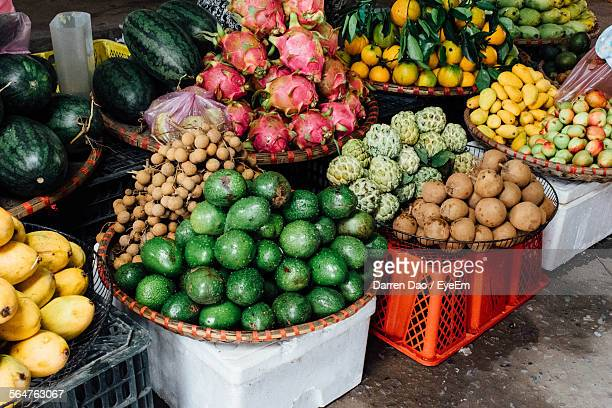 Variety Of Fruits At Market