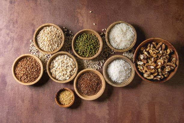 variety of grains - grain and pulses stock pictures, royalty-free photos & images