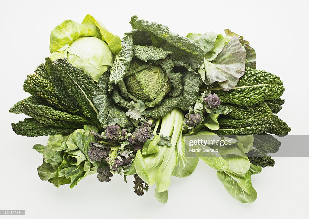 Variety of green vegetables : Stock Photo