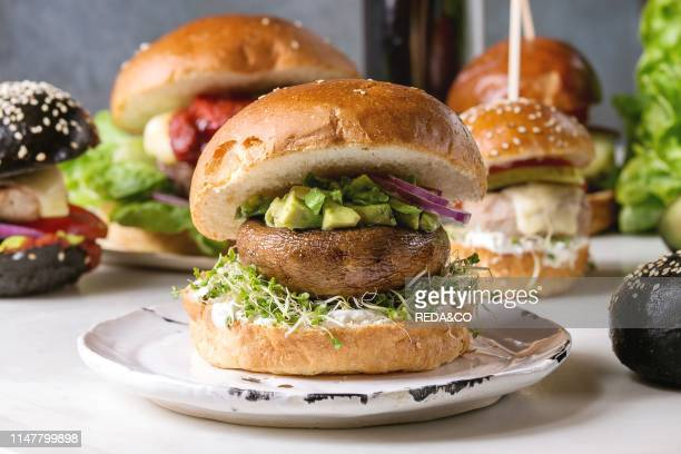 95 Portobello Mushroom Burger Photos And Premium High Res Pictures Getty Images