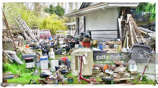 variety of items on garage sale - garage sale stock pictures, royalty-free photos & images