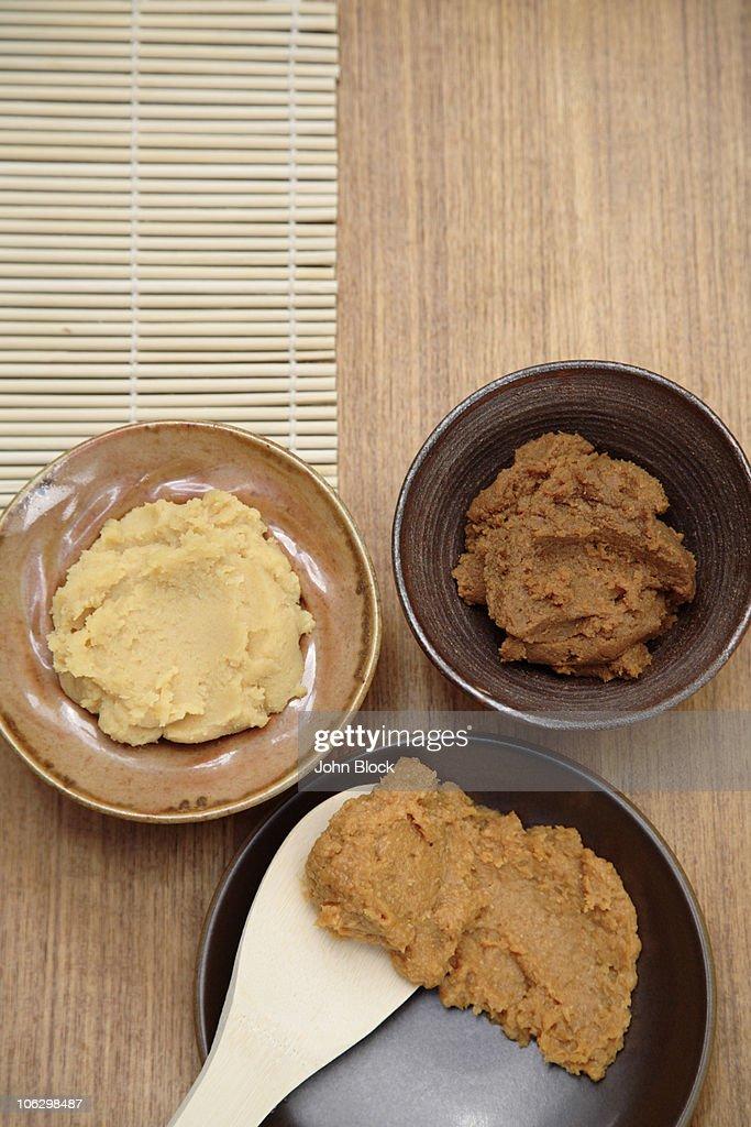 Variety of Japanese miso : Stock Photo