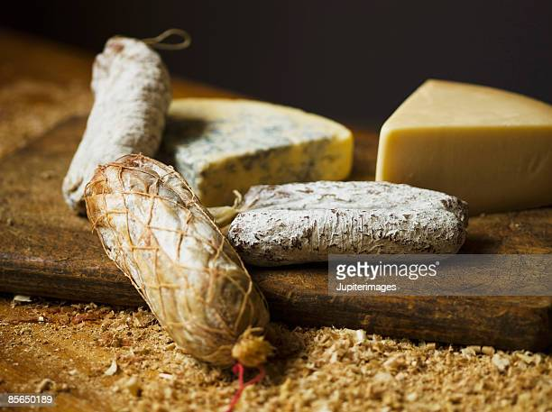 Variety of meats and cheeses