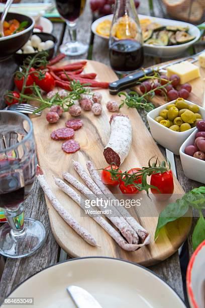 Variety of Mediterranean antipasti