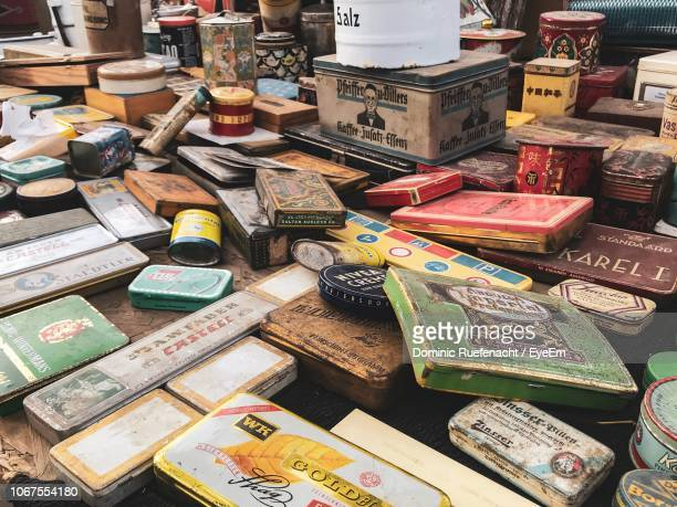 variety of objects for sale at flea market - flea market stock pictures, royalty-free photos & images