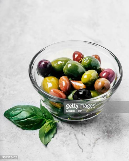 variety of olives - green olive stock photos and pictures
