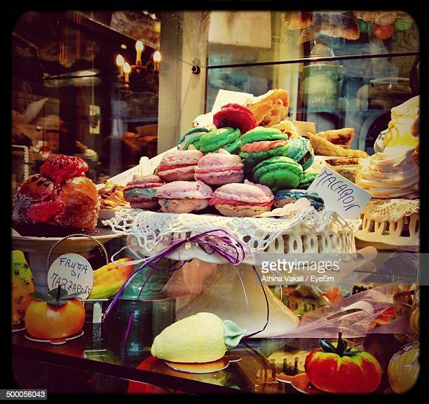 Variety of pastries for sale