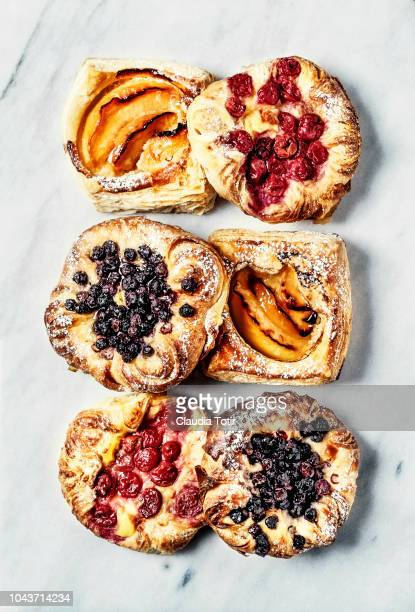 variety of pastries - baked pastry item stock pictures, royalty-free photos & images