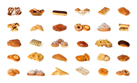 Variety of pastry 690451492
