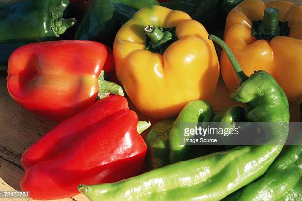 variety of peppers - yellow bell pepper stock pictures, royalty-free photos & images