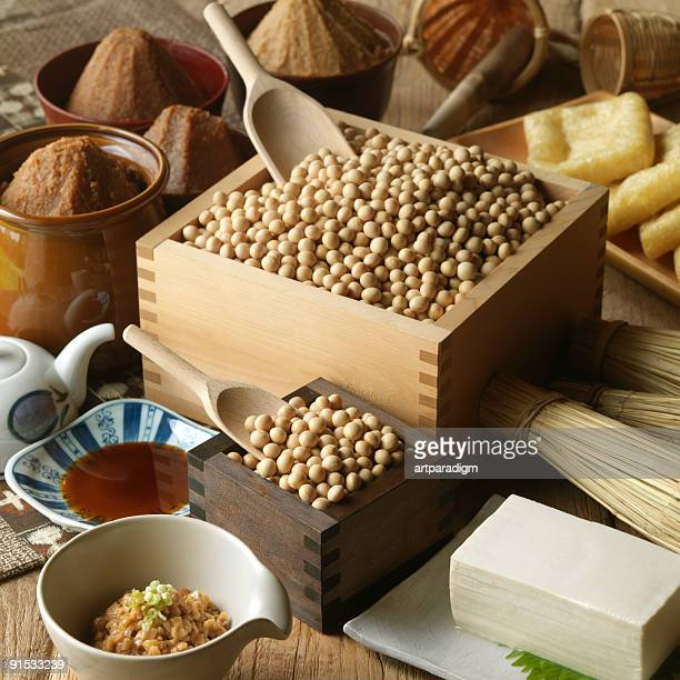 Variety of soy products