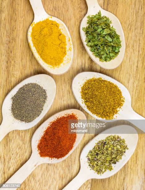 Variety of spices, close-up