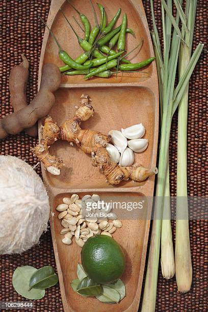 Variety of Thai cooking ingredients