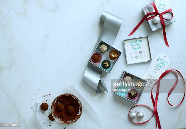 variety of truffles - box of chocolate stock pictures, royalty-free photos & images
