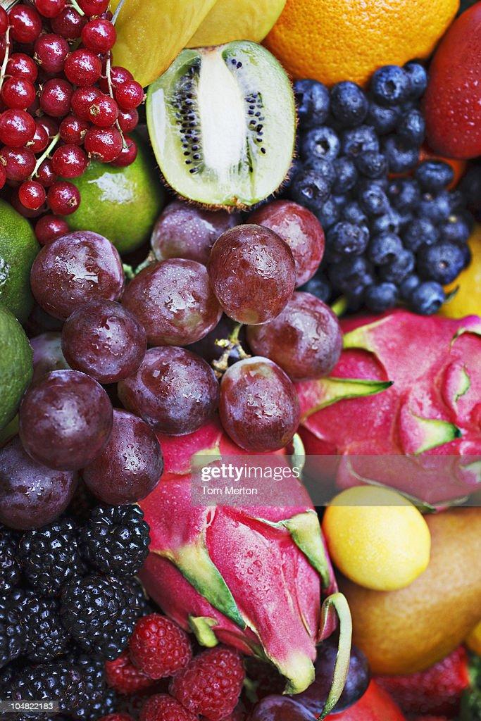 Variety of vibrant fruit : Stock Photo
