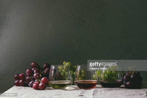 variety of wine - cabernet sauvignon grape stock photos and pictures