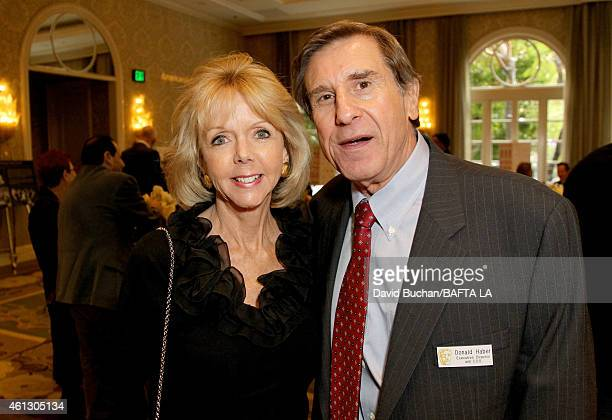 Variety Vice President Film Talent Dawn Allen and Executive Director and COO of BAFTA Los Angeles Donald Haber attend the BAFTA Los Angeles Tea Party...