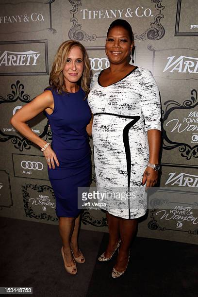Variety VP/Associate Publisher Michelle Sobrino and Queen Latifah arrive at Variety's 4th Annual Power of Women Event Presented by Lifetime at the...