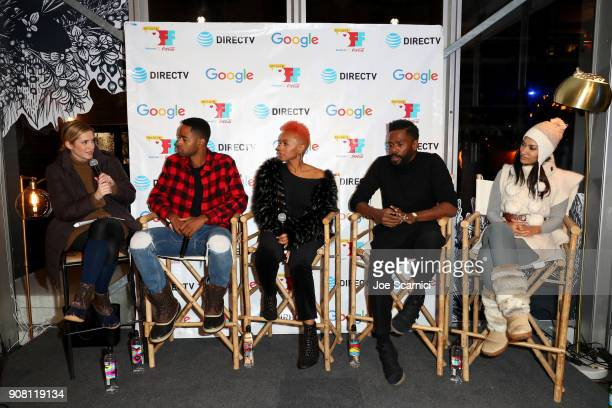Variety/Page Six TV/ moderator Elizabeth Wagmeister Jay Ellis of 'A Boy A Girl A Dream' Anika Noni Rose of 'Assassination Nation' Colman Domingo of...