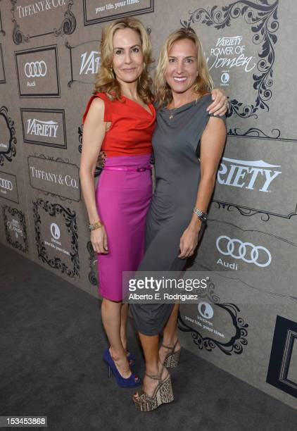 Variety's Brooke Turpin and AFI's Elizabeth Gilcreast arrive at Variety's 4th Annual Power of Women Event Presented by Lifetime at the Beverly...