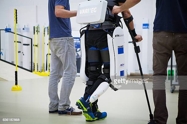 Varileg will take part in the Cybathlon by proposing an exoskeleton One of the two paraplegic drivers can be seen training here
