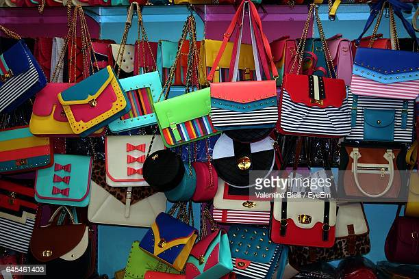 Various Bags For Sale At Market