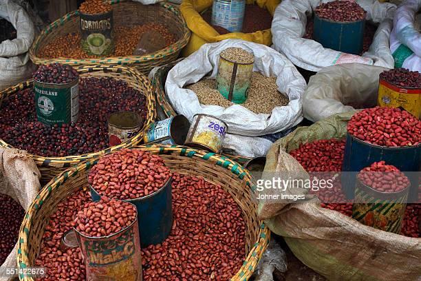 Various beans on market