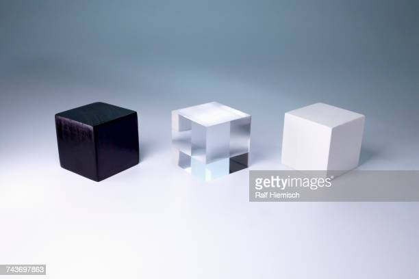Various block shapes arranged side by side on gray background