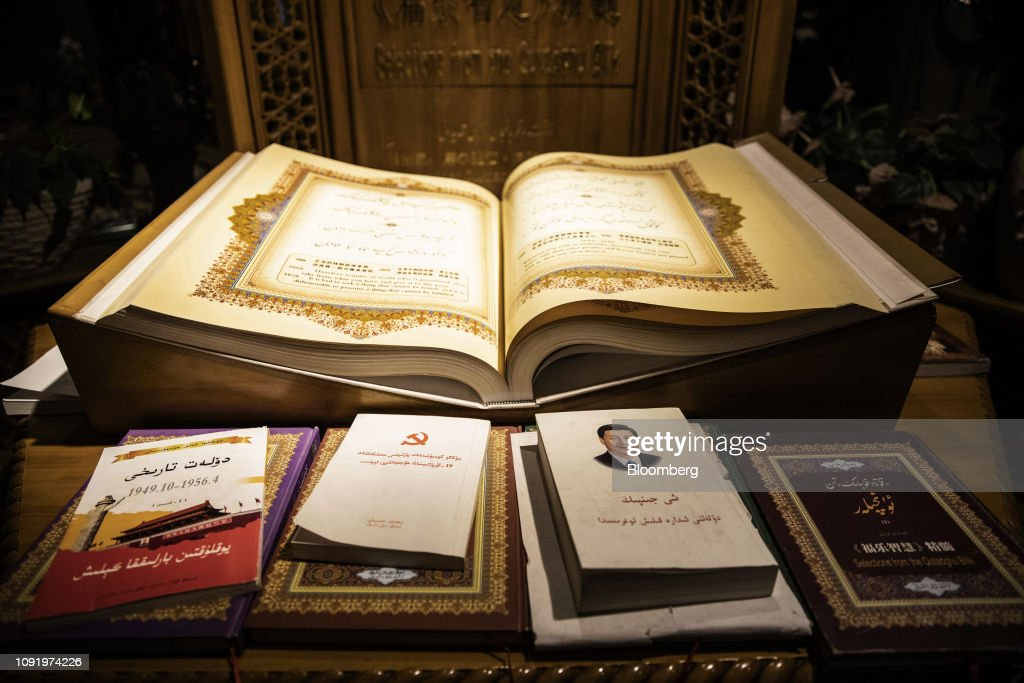 Various books in the Arabic language on Chinese President Xi