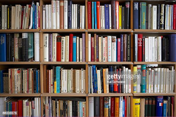 Various books on shelf, full frame