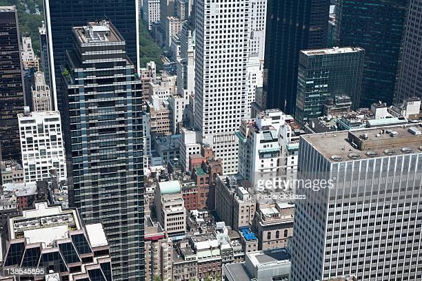 Various buildings and skyscrapers of Manhattan, full frame