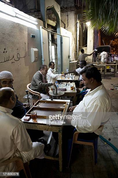 various cafes, juice bars, stalls and tradesmen, al-balad, old town, jeddah, saudi arabia, middle east - jiddah stock pictures, royalty-free photos & images