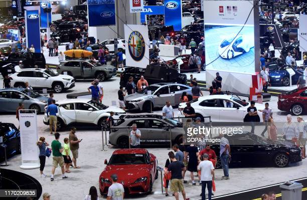 Various cars displayed at the Central Florida International Auto Show at the Orange County Convention Center.