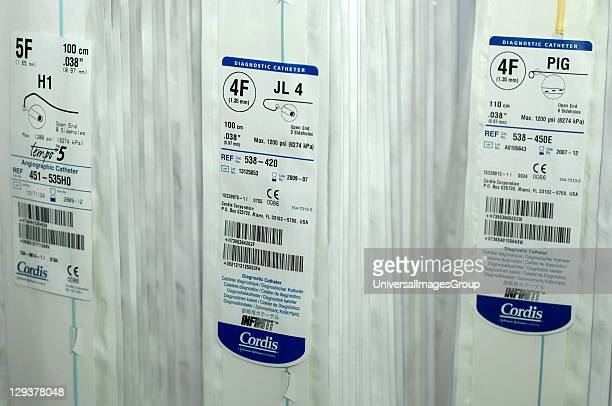 Various catheters that can be used during the angiographic procedure Angiography is an xray technique that uses a contrast dye to visualize the blood...