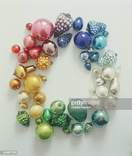 Various Christmas ornaments.