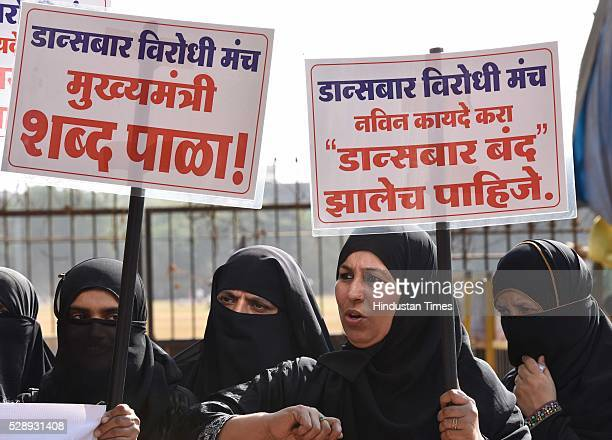 Various city NGO's formed Dance Bar Virodhi Manch protests against Govt's decision to reopen Dance Bar in state at Azad Maidan demanding the complete...