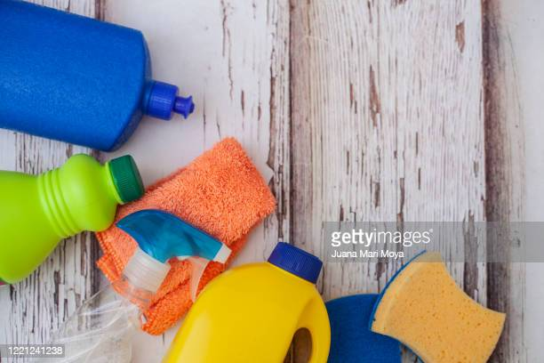 various cleaning products - bleach stock pictures, royalty-free photos & images