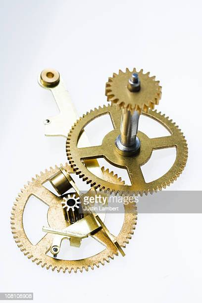 Various clock bits on white