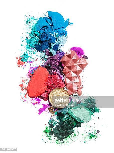 Various colour eye shadows