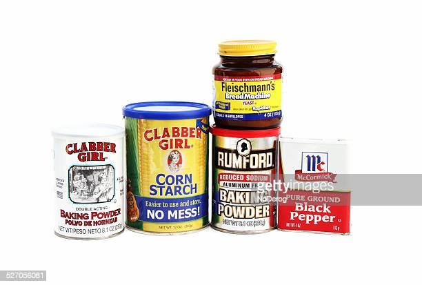 Various cooking or baking ingredients