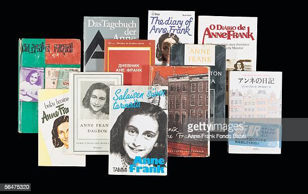 Various copies of The Diary of Anne Frank which has been translated into many languages